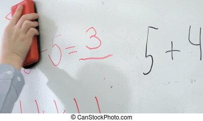 pupilla, erases, equazione, matematica, da, asse