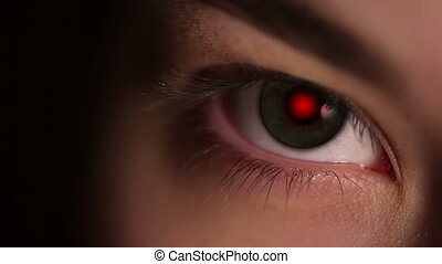 pupille, oeil rouge
