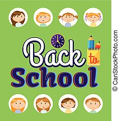 Pupils and Office, Back to School Time Vector