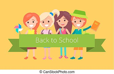 Pupils in Good Mood Ready to Go Back to School - Pupils in...