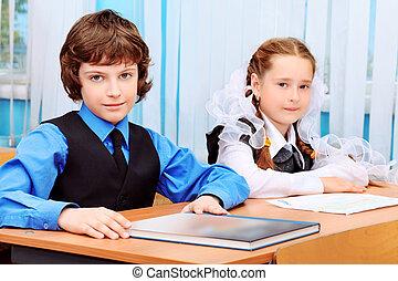 pupils - Portrait of a schoolchildren in a classroom.