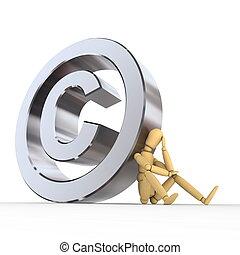 puppe, copyright, zeichen
