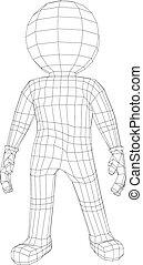 Puppet 3d man standing