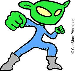 Puppet alien