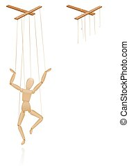 Puppet On Strings Marionette Broken Strings Torn Cords ...