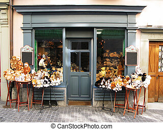 Puppet shop in Zurich prepared for Easter holiday