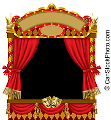 Puppet show booth - Raster version of vector image of the...