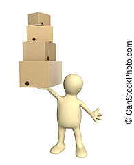 Puppet with boxes