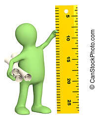 Puppet with information ruler