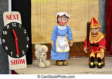 Puppetry - AUCKLAND,NZ - JUNE 01 2014:Puppetry show.It is...