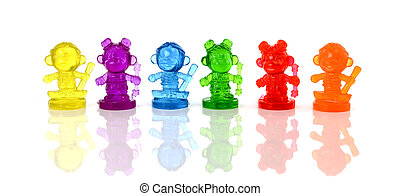 puppets isolated on a white background