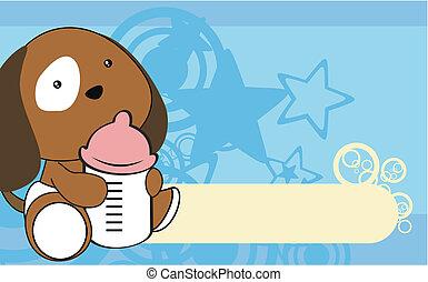 puppie baby cartoon wallpaper vecto
