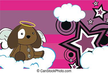 puppy angel cartoon background