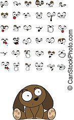 puppy baby cute sitting cartoon set in vector format very...