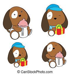 puppy baby diaper cartoon set