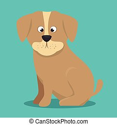 puppy beige color icon background vector illustration eps 10