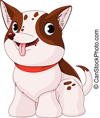 Illustration of very cute puppy dog