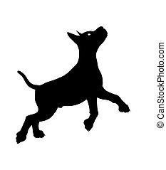 Puppy Dog Illustration Silhouette