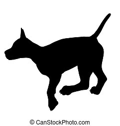 Puppy Dog Illustration Silhouette - Black puppy dog art...