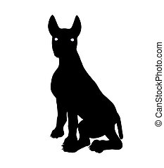 Puppy Dog Illustration Silhouette