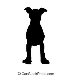 Puppy Dog Silhouette
