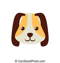 puppy face ear long brown pet vector illustration eps 10