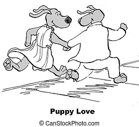 Puppy Love - Valentine's cartoon about puppy love.
