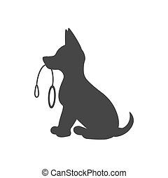 Puppy silhouette illustration