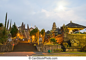 Pura Besakih. - largest hindu temple of Bali, Indonesia -...