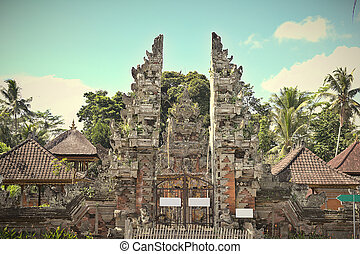 Pura Dalem temple in Ubud, Bali, Indonesia