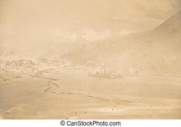 Pura Luhur Poten temple. Sea of sand, Tengger massif, East ...