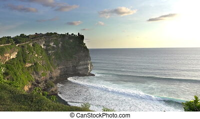 Pura Luhur Uluwatu. Bali Indonesia, the Panoramic view in...