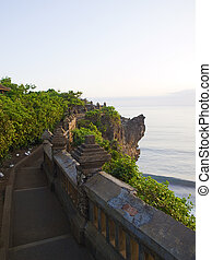 Pura Luhur wall - View on the ocean from Pura Luhur Temple ...