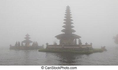 Pura Ulu Danau Temple on Bratan lak - Bali, Indonesia