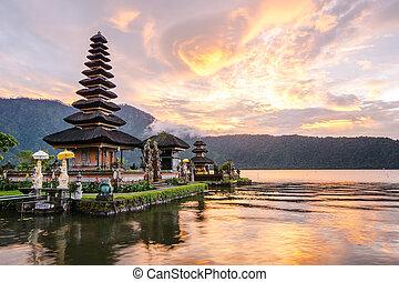 Pura Ulun Danu Bratan at Bali, Indonesia - Pura Ulun Danu ...