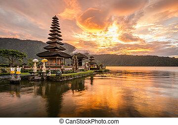 Pura Ulun Danu Bratan at Bali, Indonesia - Pura Ulun Danu...