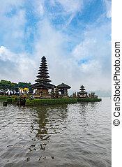 Pura Ulun Danu Bratan, Hindu temple on Bratan lake, Bali island, indonesia