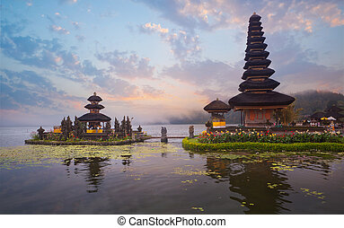 Pura Ulun Danu Bratan temple on Bali, Indonesia