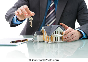 Purchase agreement for house - Man signs purchase agreement ...