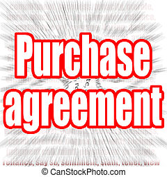 Purchase agreement word with zoom in effect as background, ...