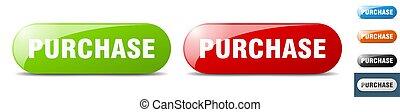 purchase button. key. sign. push button set
