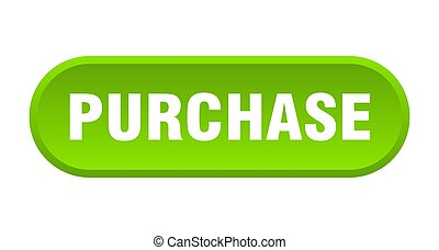 purchase button. rounded sign on white background