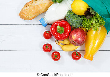 Purchase food purchases fruits and vegetables copyspace copy space wooden board