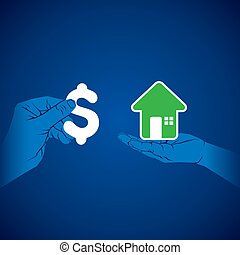 purchase house with money