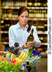 Purchase of wine in supermarkets