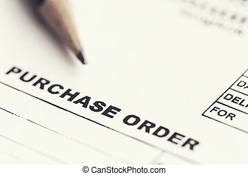 Purchase order sheet - Macro Purchase order with pencil