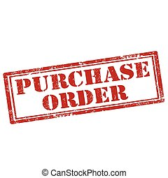 Purchase Order-stamp - Grunge rubber stamp with text ...