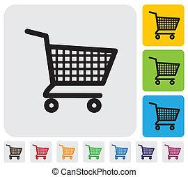 purchases-, bevásárlókocsi, icon(symbol), vektor, grafikus, online