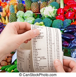 purchases in supermarket