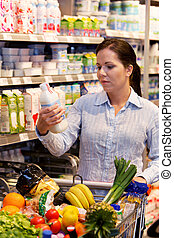 Purchases of fruit vegetables in the supermarket - Young ...
